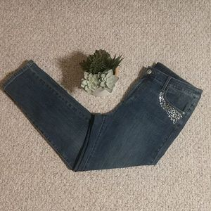 Soft Surroundings Embellished Jeans
